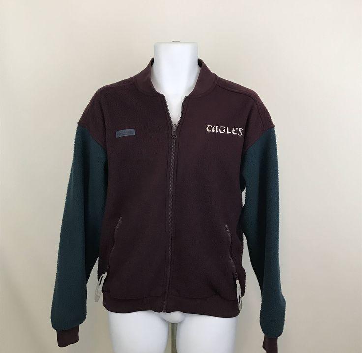 Vintage Columbia Fleece Jacket Radial Sleeve, Philadelphia Eagles Zip Up Fleece M/L, NFL Fleece Jacket, Philly Eagles, NFL Fan Apparel by UniqueTreasuresPA on Etsy