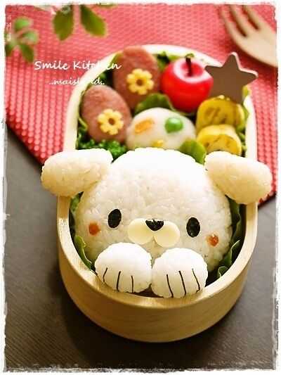 Bento Rice Puppy Just pic idea here.