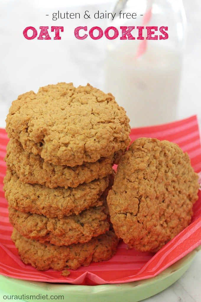 Delicious gluten, dairy and egg free cookies, packed full of oats to make them really filling and lower in sugar too!| Our Autism Diet