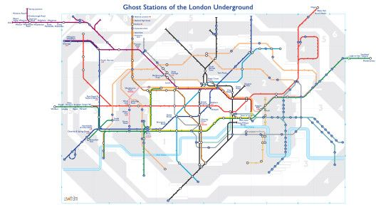alternative london tube maps II - ghost stations