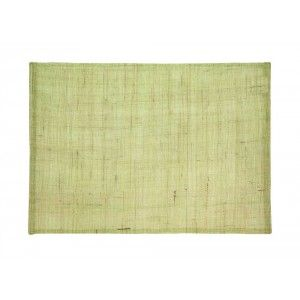 Natural linnen placemat in light green from Dixie