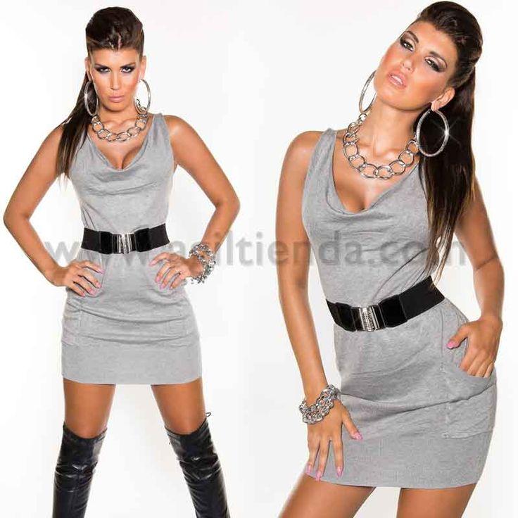 #Original #vestidocorto y #ajustado con tejido elástico que resalta nuestras curvas y #cinturónincluido para complementar nuestro #look mas @sexy. Disponible en 8 colores a elegir. Mas información: http://www.agiltienda.com/es/1988-atrevido-vestido-con-cinturon.html