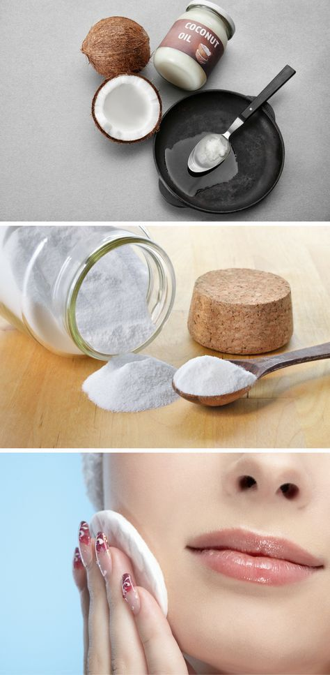 With this natural facial cleanser of coconut oil and baking soda, you'll say goodbye to the wrinkles and the sagging facial skin!