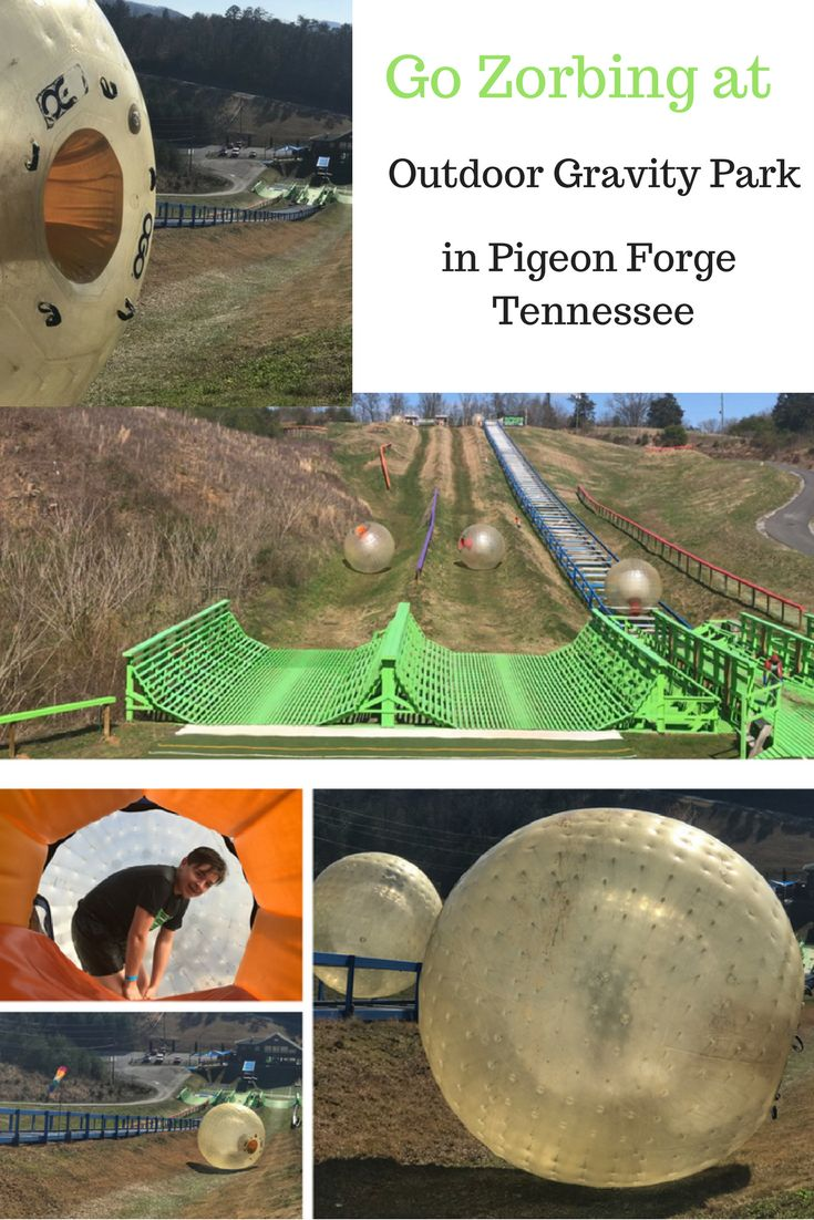 Go zorbing the next time you visit the Great Smoky Mountains at Outdoor Gravity Park in Pigeon Forge, Tennessee.