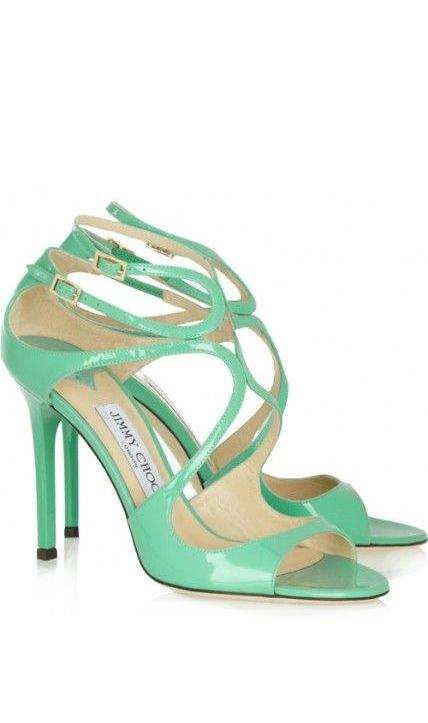 Mint green heels | via The Knot