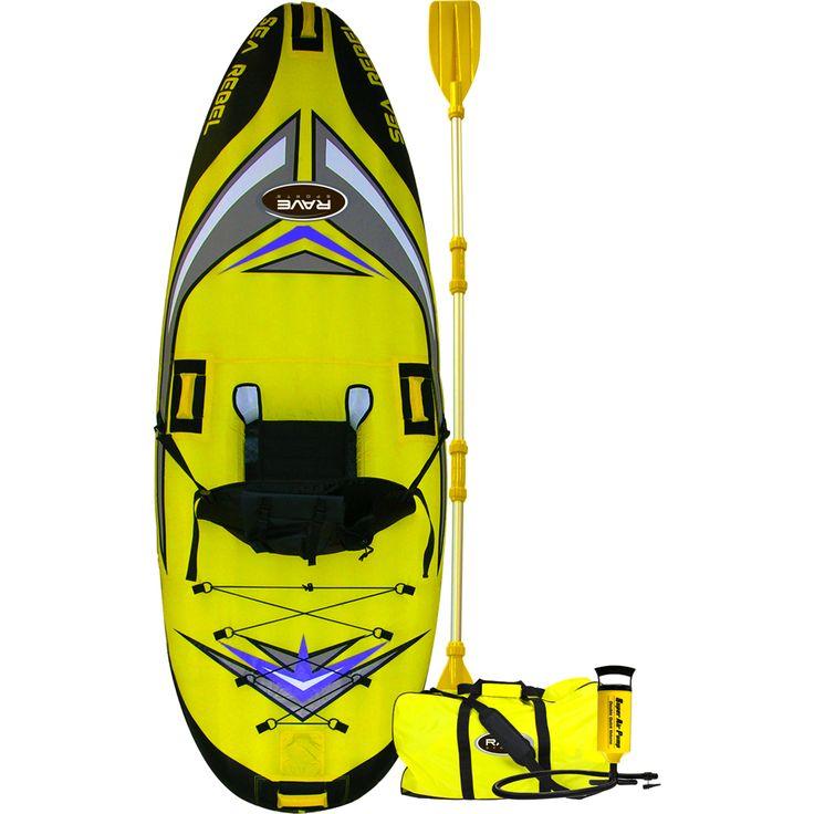 RAVE Sea Rebel Inflatable Kayak - https://www.boatpartsforless.com/shop/rave-sea-rebel-inflatable-kayak/