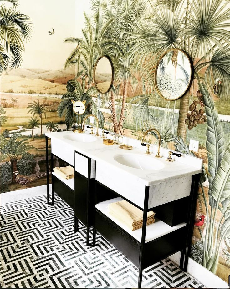 NB Projects Jungle Bathroom Instagram