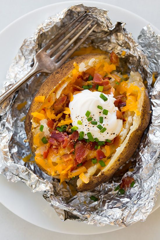 Slow-cooker baked potatoes are straight-up genius.