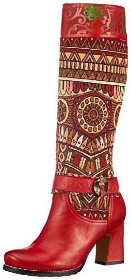 LAURA VITA Celestine, Bottes cuir femme. Hauteur de talons : 7.5 centimètres. 2 coloris rouge ou marron. EUR 159,95