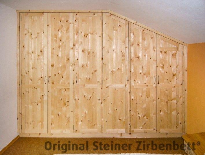 Amazing Zirbenholz Schrank f r Schlafzimmer teilig Ma einbau in Mansarde