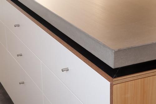 Custom kitchen, concrete benchtops