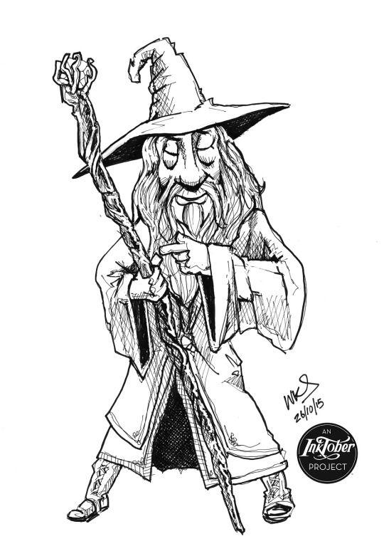 @MrSmithMachine - #inktober Day 26: Gandalf