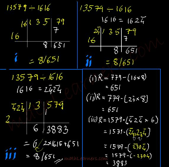 Flag Method of Vedic Mathematics to carry out division in lesser time.