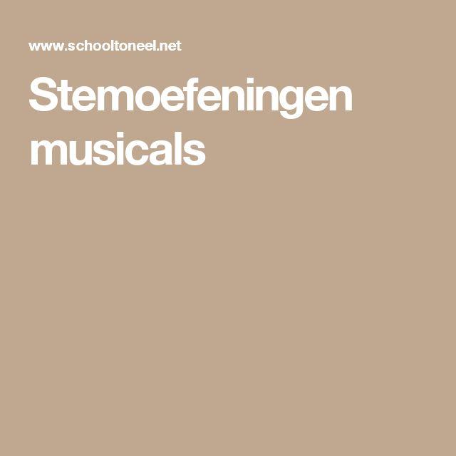 Stemoefeningen musicals