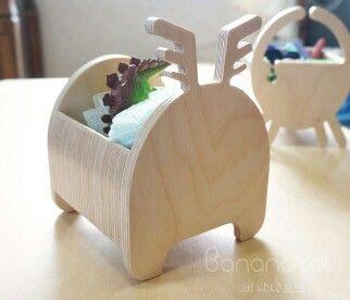 """""""MINI CERF"""" petite boîte pour ranger de petits jouets ou des crayons. Little deer for kid"""