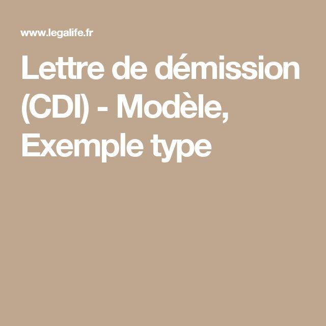 Lettre de démission (CDI) - Modèle, Exemple type