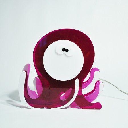 Lampada Octopus. Lampada da tavolo o da comodino per camerette ...