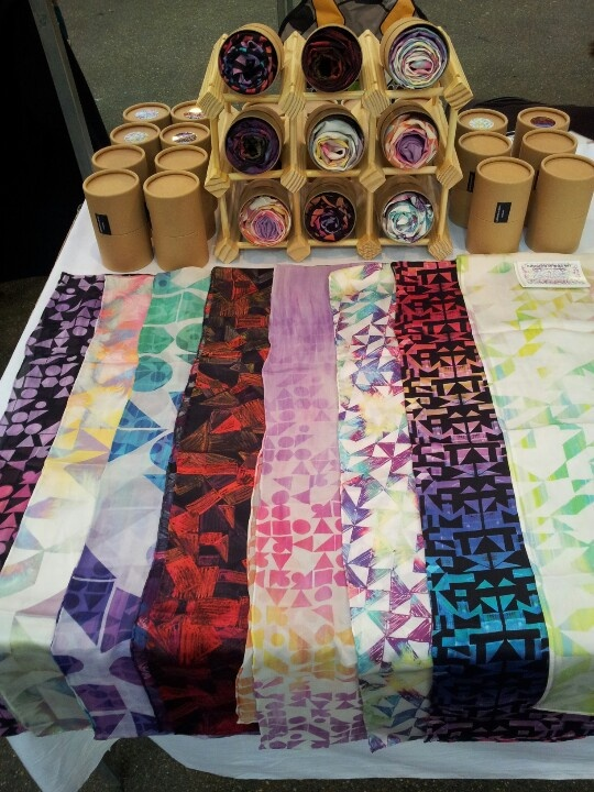 Samantha Warren scarf designs Like the way they are packed
