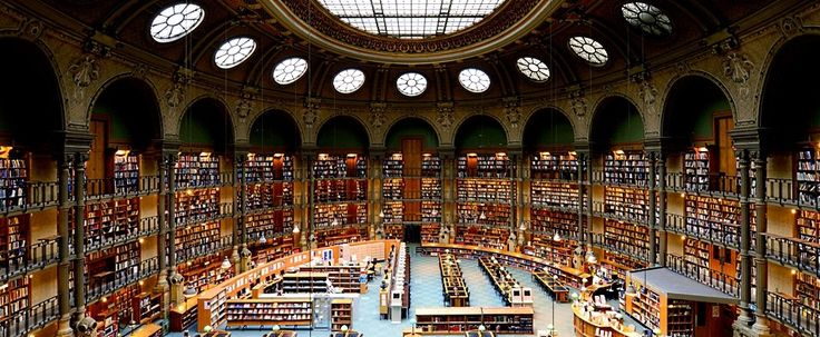 National Library Of Paris Reading Room