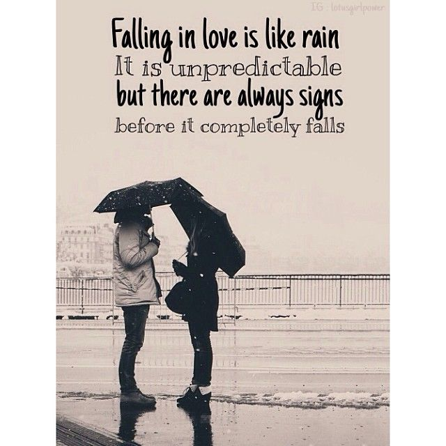 Enjoy Loving Quotes Love Is Like Rain