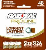 Rayovac Proline Size 312 Hearing Aid Batteries, 48 Pack  List Price: $15.99 Discount: $0.00 Sale Price: $15.99