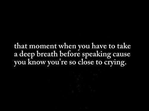 That moment when you have to take a deep breath...