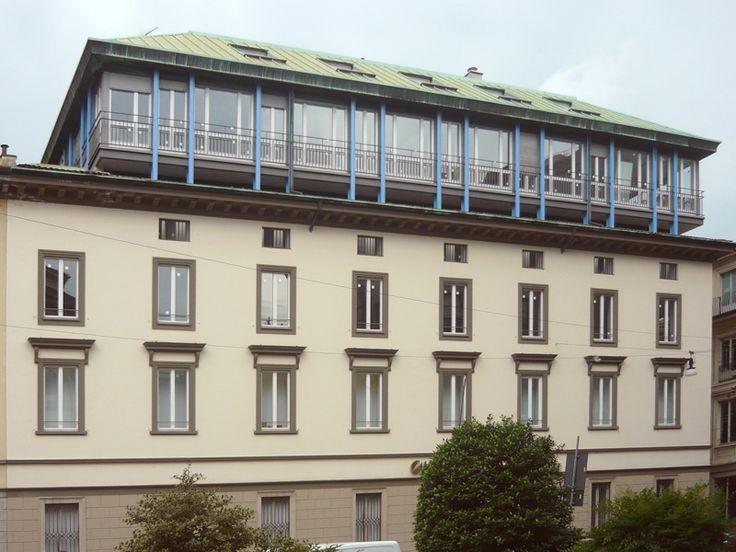 Sopralzo della Banca Privata Finanziaria - Lo studio BBPR e Milano - itinerari - Ordine degli architetti, P.P.C della provincia di Milano