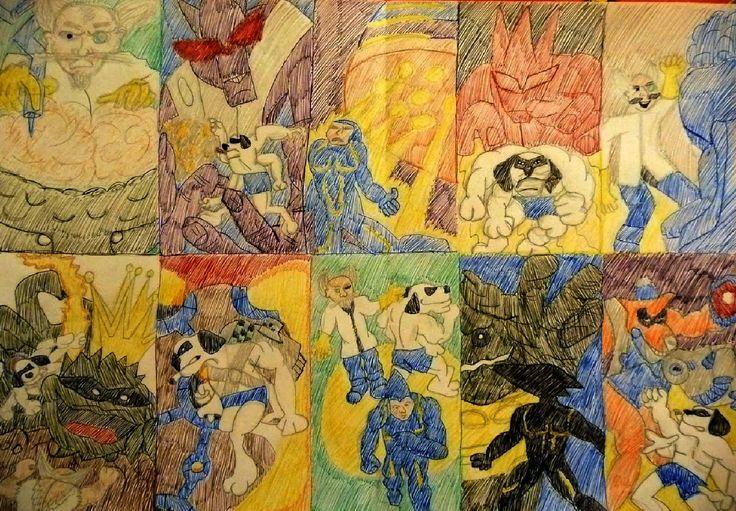 MDK 2 as I See; Size: A3; Technic: colour pen; Game: MDK 2 (Bioware, 2000)