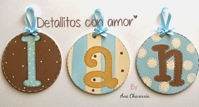 Nombres decorados <3 https://www.facebook.com/pages/Detallitos-con-amor/226388200757614?ref=br_rs