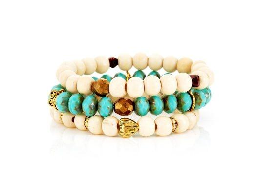 Cannes Stack :}: Stack Bracelet, Turquoise Bracelets, Accessories, Pretty Bracelets, Stacked Bracelet