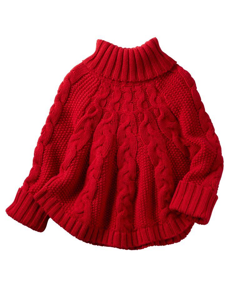 Toddler Girl Poncho Turtleneck Sweater   Carters.com