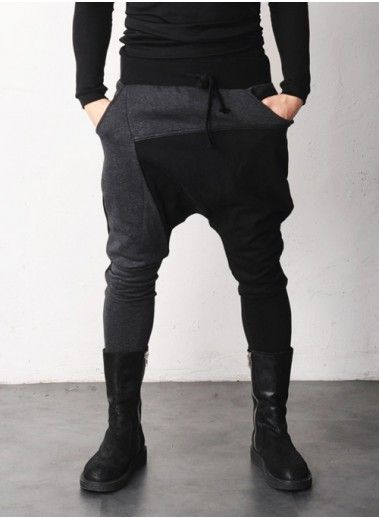 Mens Mckin Drop Crotch Jersey Pants at Fabrixquare