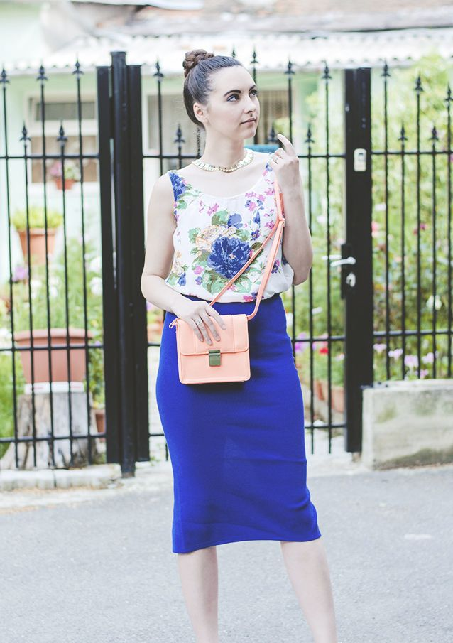Braids, florals and blue 01