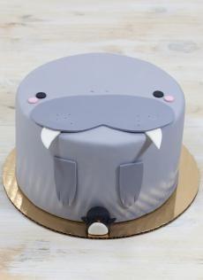 Ben jij een grapjas? Dan vind je deze walrus vast leuk als verjaardagstaart, wij zouden niet kunnen kiezen tussen al deze taarten voor ons feestje | Whipped Bakeshop, Philadelphia, PA