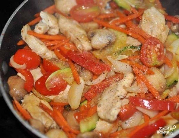 Соте из курицы с овощами - пошаговый кулинарный рецепт на Повар.ру