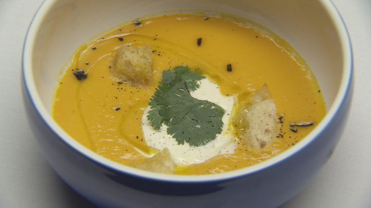 Pumpkin and Orange Soup with Smoked Cumin Yoghurt