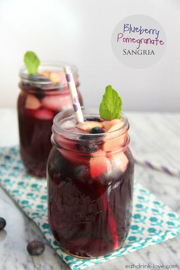 Blueberry Pomegranate Sangria