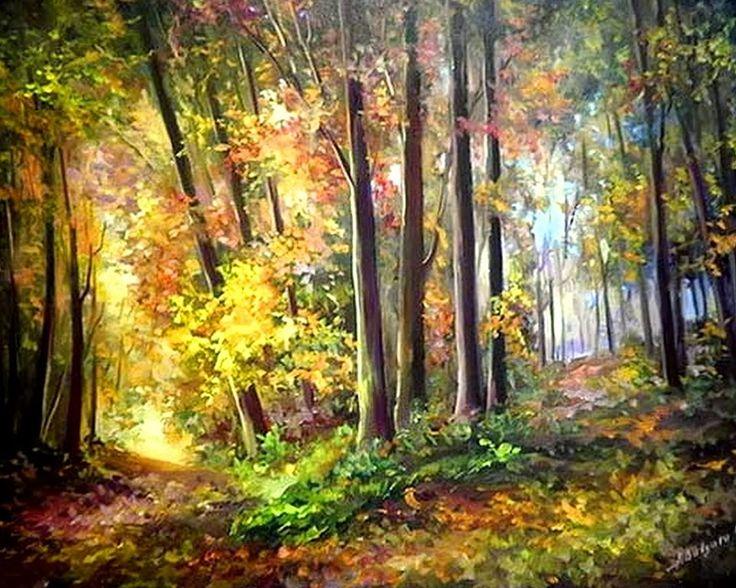 Im genes arte pinturas paisajes naturales del bosque - Paisajes de australia ...