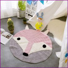 New Crochet Round Rugs and Carpets for children room decoration Kids Baby Blanket Game Mat Pink 80cm Playmat knitting(China (Mainland))