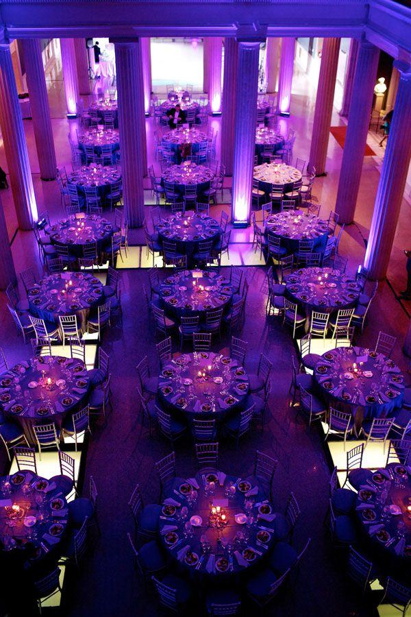 Purple Theme wedding decor… Photographer: Deb Lindsey… Multi-colored wedding theme