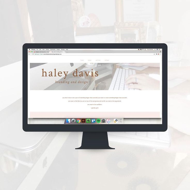 "105 Likes, 12 Comments - Haley Davis (@haleydavisbrandinganddesign) on Instagram: ""It's a happy, happy Friday at Haley Davis Branding and Design ✨ after weeks of redesigning my own…"""