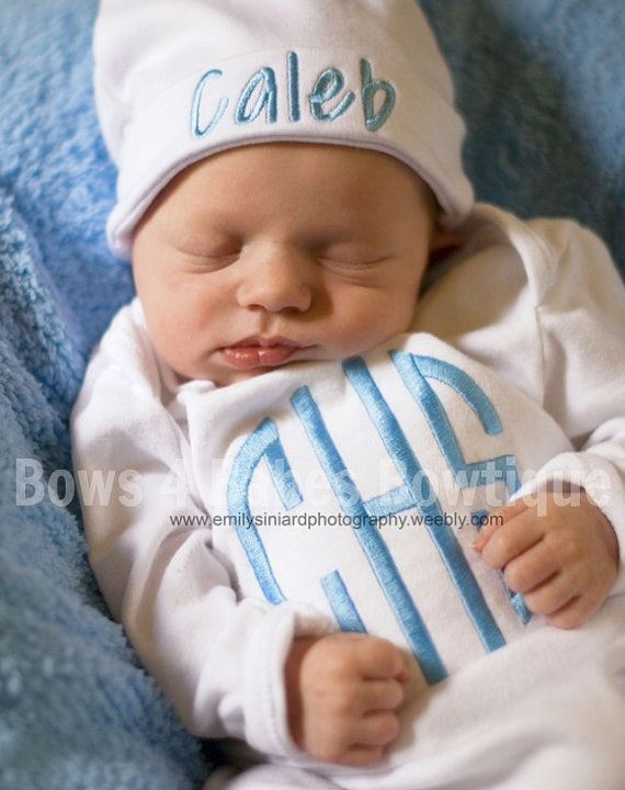 Boys Newborn Going Home Outfit by Bows4BabesBowtique on Etsy