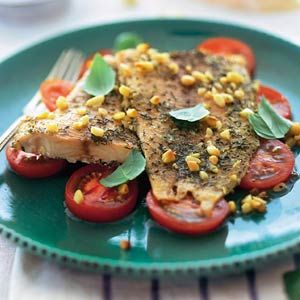 Snel en lekker  Recept - Gegrilde tilapia op tomatensalade - Allerhande
