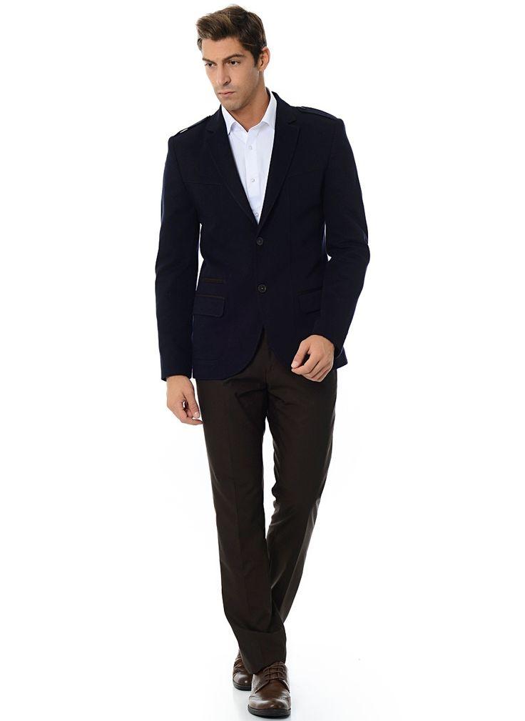 Коричневые брюки из шерсти Super 140's