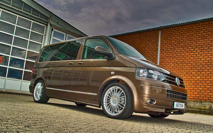 Descargar fondos de pantalla Hartmann Vansports, tuning, Volkswagen Transporter, vans, VW T5, Volkswagen