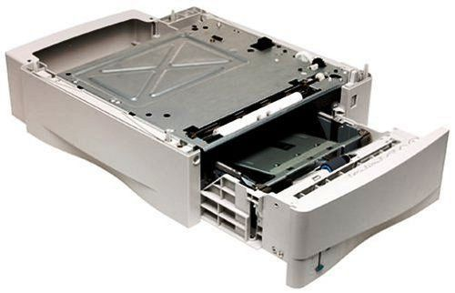 Hewlett Packard C8055A 500-Sheet Universal Replacement Tray for the LaserJet 4100 Series. 500-sheet capacity replacement paper tray. Compatible with the HP LaserJet 4100 series. Handles legal, letter, A4, A5, executive, and custom sizes. Stackable, expanding your paper-handling capacity up to a maximum of 1,600 sheets. A quality HP product.