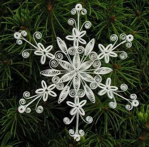17 best images about quilling snow flacks on pinterest for Christmas paper crafts for adults