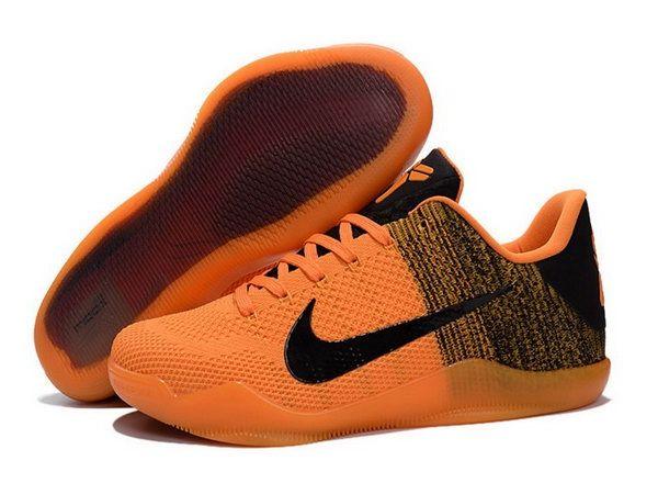Nike Flyknit Kobe 11 Shoes Black Yellow Uk