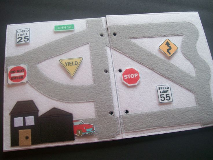 How cute is this page.  Signs have velcro