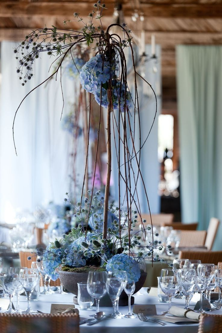 Stunning Wedding Reception Ideas from International Event Designer ArtSize - blue wedding centerpiece idea